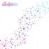 Geometric colorful background. Molecule and Royalty Free Stock Photography