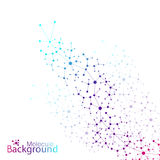 Geometric colorful background molecule and Stock Images