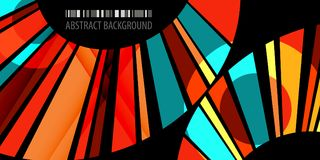 Geometric colorful bar abstract background graphics template. Abstract colorful background graphics design layout template with blended multiple bar shapes Vector Illustration