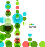 Geometric colorful circles background Stock Images