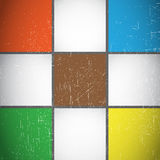 Geometric colorful cubes vintage Royalty Free Stock Photos