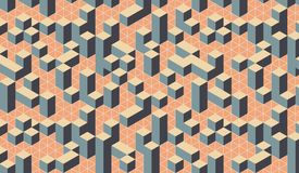 Geometric colorful 3D effect optical square city pattern. 3D effect pattern can be use for background or illustration etc. It is a city and a abstract pattern stock illustration