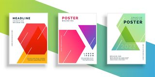 Geometric colorful flyer design template. Vector vector illustration