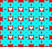 Geometric colorful pattern, design, ornament, heart shaped ornament. Seamless geometric colorful pattern, design, ornament, heart shaped ornament vector illustration