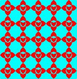 Geometric colorful pattern, design, ornament,heart shaped ornament. Seamless geometric colorful pattern, design, ornament,heart shaped ornament royalty free illustration