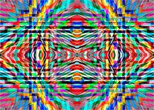 Geometric colorful patterns and ornaments. Stock Images