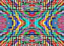 Geometric colorful patterns and ornaments. Stock Photo