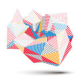 Geometric colorful polygonal striped structure, modern science a Stock Images