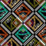 Geometric colorful rhombus greek vector seamless pattern. Abstra. Ct geometry ornamental background. Repeat multicolor backdrop. Ancient vintage greek key vector illustration