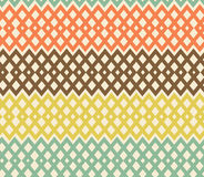 Geometric colorful seamless pattern. Netting struc Stock Photography