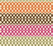 Geometric colorful seamless pattern. Netting structure Stock Images