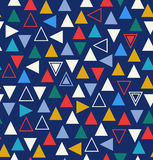 Geometric colorful seamless pattern with triangles Royalty Free Stock Photos