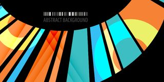 Geometric colorful strips abstract background design template. Abstract colorful geometric background design layout template with blended multiple ribbons vector illustration