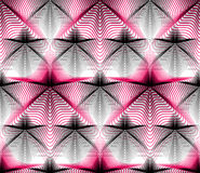 Geometric colorful stripy overlay seamless pattern, bright vecto Stock Photo