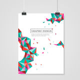 Geometric colorful triangles design for poster template Stock Photo