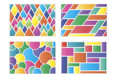 Geometric colors background set. Set of backgrounds of geometric shapes vector illustration