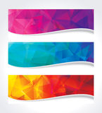 Geometric Colors Banner Stock Images