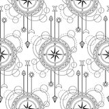 Geometric compass seamless pattern Royalty Free Stock Photo