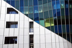 Geometric composition of a modern building Royalty Free Stock Images