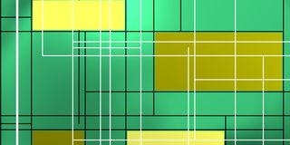 Geometric composition over emerald. Stock Image