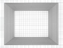 Geometric composition quad room Royalty Free Stock Image