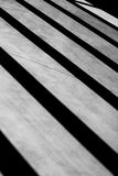Geometric composition with shadows creating a minimal diagonal p. Erspective in black and white indoors royalty free stock photo