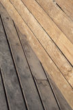 Geometric composition with wood planks. On a sunny day Stock Photos