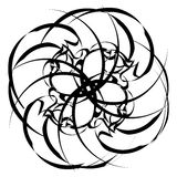 Geometric concentric element. Abstract spiral shape on white. Royalty free vector illustration Royalty Free Stock Image