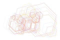 Geometric Conceptual background hexagon pattern for design. Shape, graphic, repeat & digital. Geometric Conceptual background hexagon pattern for design. Vector stock illustration