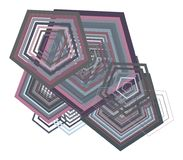 Geometric Conceptual background pentagon pattern for design. Art, vector, template & creative. Geometric Conceptual background pentagon pattern for design royalty free illustration