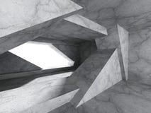 Geometric concrete architecture room interior background Stock Photography