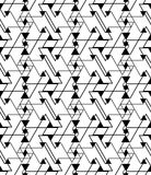 Geometric contrast maze abstract seamless pattern Stock Photo
