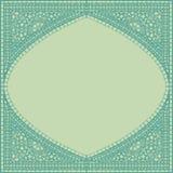 Geometric corner frame pattern ethnic tile colorful background  Stock Image