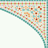 Geometric corner frame pattern ethnic tile colorful background v Stock Images