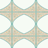 Geometric corner frame pattern ethnic tile colorful background v Royalty Free Stock Image