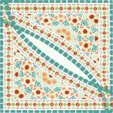Geometric corner frame pattern ethnic tile colorful background v Stock Photo
