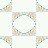 Geometric corner frame pattern ethnic tile colorful background v Stock Photography