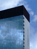 Geometric corporate building. New geometric blue corporate building stock photos