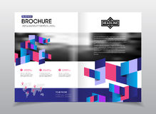 Geometric Cover Background, Brochure Template Layout for Annual vector illustration