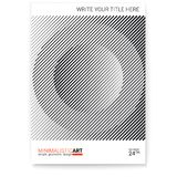 Geometric cover design, modern. Creative poster with simple shape in bauhaus style, minimalistic art. Modern digital art. With halftone patterns. Template for royalty free illustration