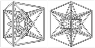 Geometric Creation Of Cube And Pyramid On Its Six Sides Vector Royalty Free Stock Images