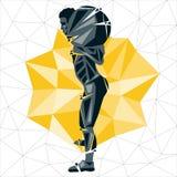Geometric Crossfit concept Stock Images