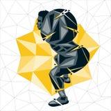 Geometric Crossfit concept Royalty Free Stock Photo