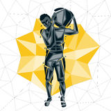 Geometric Crossfit concept Royalty Free Stock Images