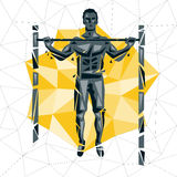 Geometric Crossfit concept Stock Photography