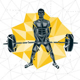 Geometric Crossfit concept Royalty Free Stock Image