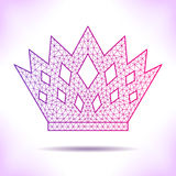 Geometric crown Royalty Free Stock Images