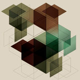 Geometric Cube Background Stock Photography