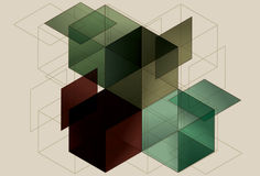 Geometric Cube Background Stock Images
