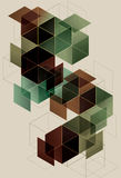 Geometric Cube Background. Geometric transparent retro Cube Background design Royalty Free Stock Photography